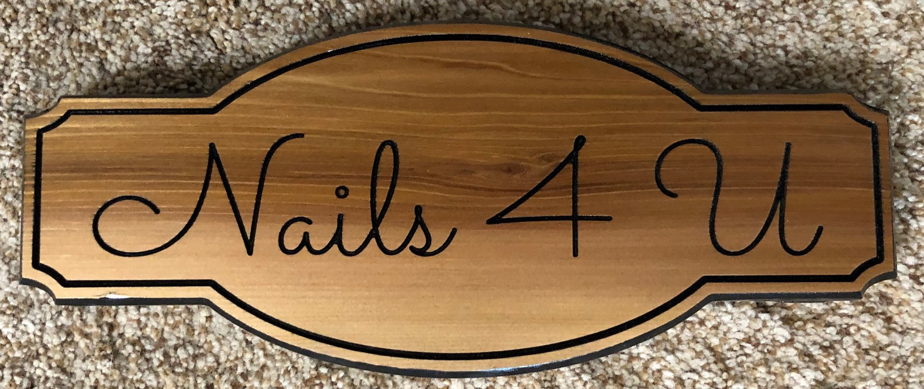 """621  business wood sign """"nails for you"""""""