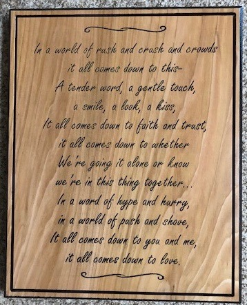 635   Carving a poem