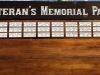 605  veterans memorial wood sign