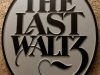 """614  oval recessed wood carving with words """"the last Waltz"""""""