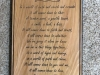 625    cedar sign with engraved poem