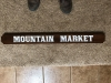 626  Mountain Market outdoor wooden cedar sign