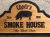 632  personalized outdoor wood sign