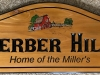 """616  Home identity wood plaque """"Gerber Hill"""" with barn graphics"""