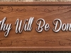 """617  wood sign quote """"thy will be done"""""""