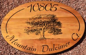 Oak Tree address sign